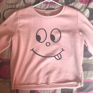 Forever 21 Pastel Pink Crop Sweater